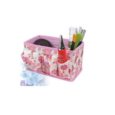 優質小花無紡布化妝品收納盒 收納箱定制