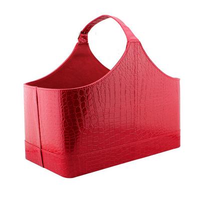 紅色鱷魚紋皮圣誕禮品籃/元旦禮品籃/節日禮品籃/禮籃定制