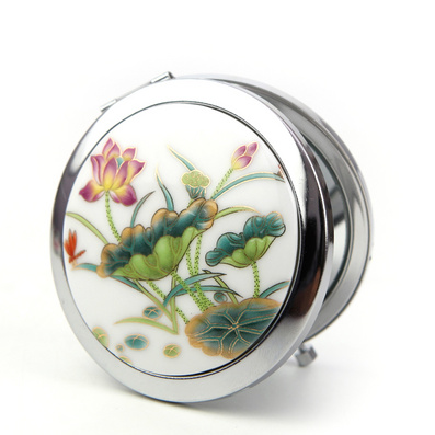陶瓷化妆镜 景德镇陶瓷化妆镜定制