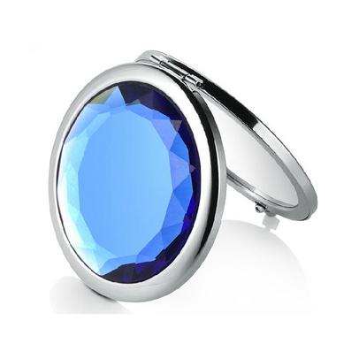 水晶玻璃化妆镜便携折叠随身双面镜子定制