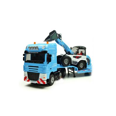 1:50全合金工程車系列之平板拖車帶推土車模型定制