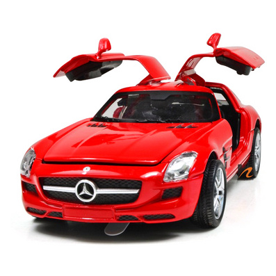 1:32正版授權合金回力奔馳SLS 汽車模型定制