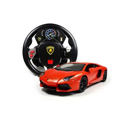 1:24正版授權合金蘭博基尼方向盤遙控汽車模型定制