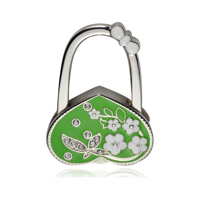 金屬折疊掛包鉤掛包器 心形鑲鉆高檔精品掛包鉤