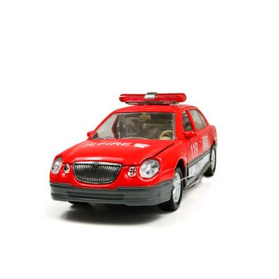 1:32合金回力車模北京現代消防車汽車模型定制