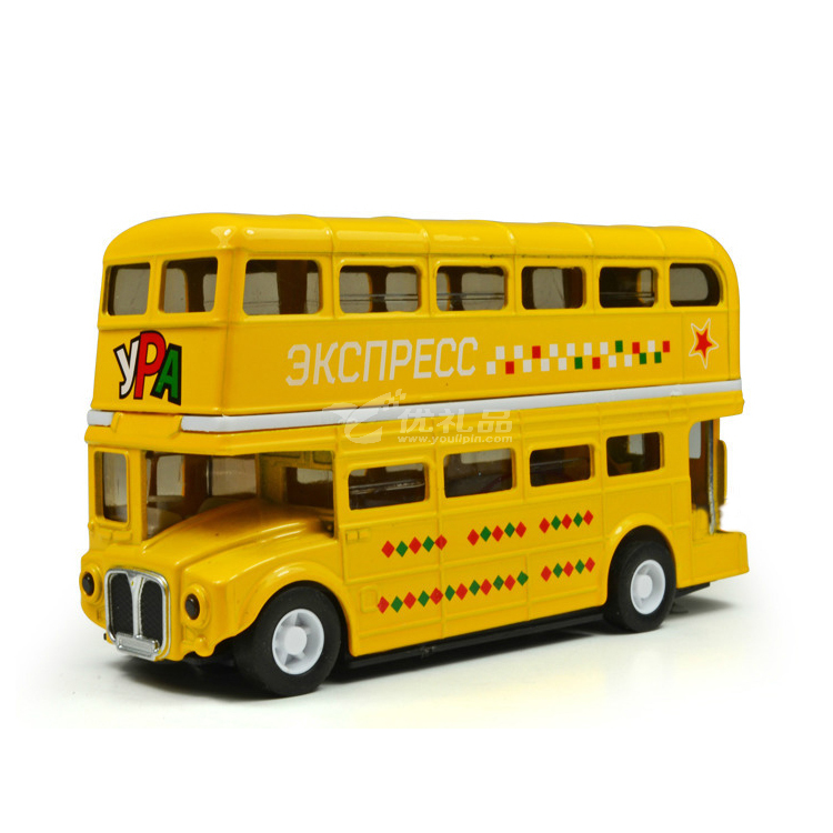 1:50合金回力雙層倫敦巴汽車模型定制