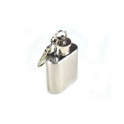随身便携小酒壶 304不锈钢酒壶 1盎司酒壶 带钥匙扣