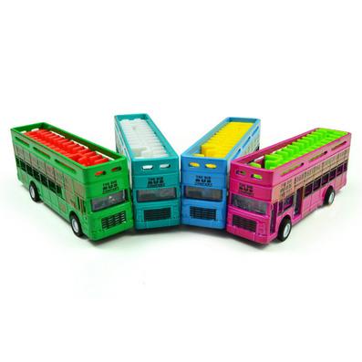 1:80合金回力雙層小巴士汽車模型定制