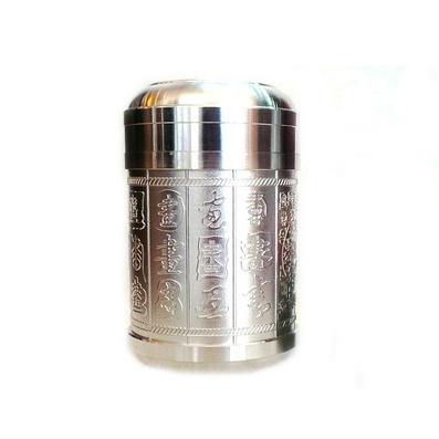 精品純錫罐 茶葉罐 書法