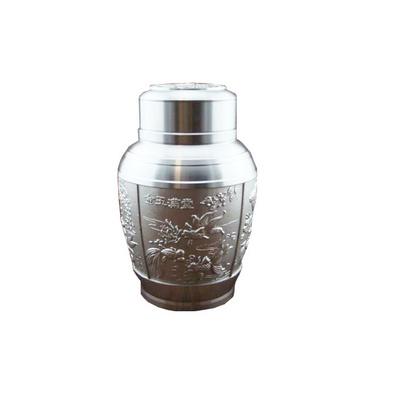 金玉滿堂純錫茶葉罐 錫罐 茶葉罐