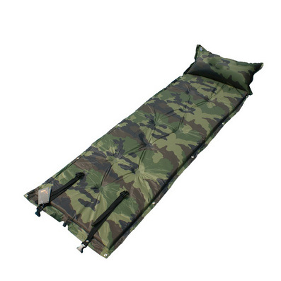 九点带枕军绿迷彩可拼接自充气垫定制