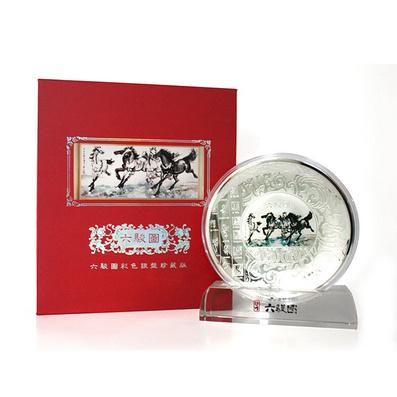 馬年大銀盤 水晶底座紙盒包裝