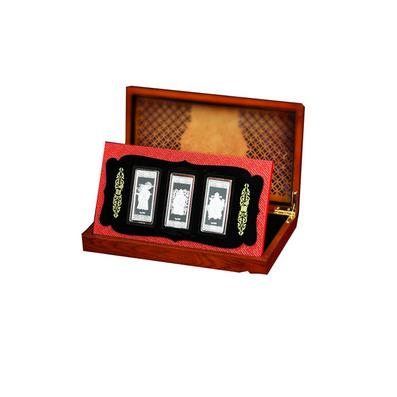 財神銀條 三枚銀章 收藏禮品