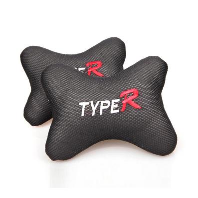 對裝冰絲透氣車用頭枕護頸枕 骨頭枕靠枕定制