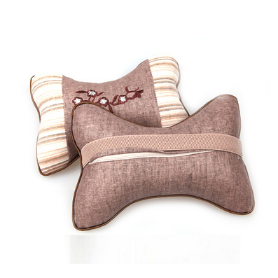 棉質梅花汽車頭枕 頸枕 頭枕定制