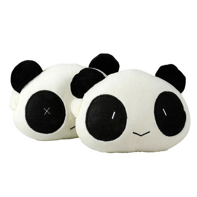 升級加厚可愛熊貓頭枕 創意頭枕 汽車頸枕定制