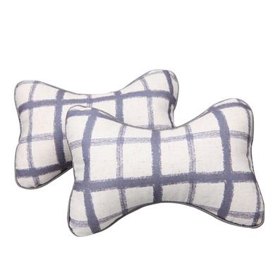 新品格子汽车头枕 车用护颈枕 棉质骨头枕定制