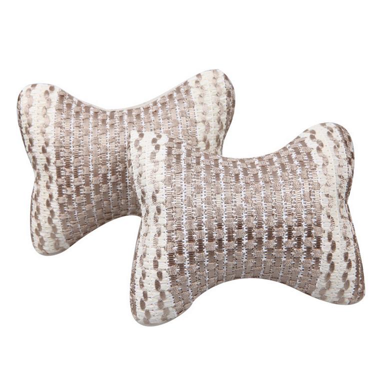 对装机编冰丝头枕 四季通用汽车头枕 定制