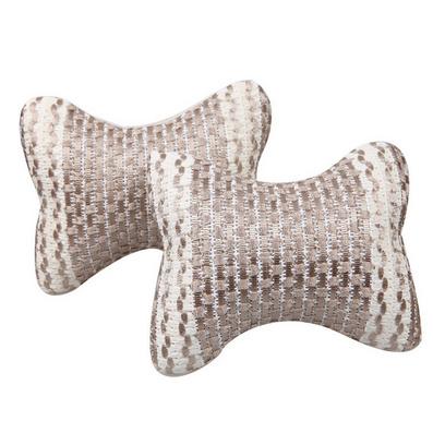 對裝機編冰絲頭枕 四季通用汽車頭枕 定制