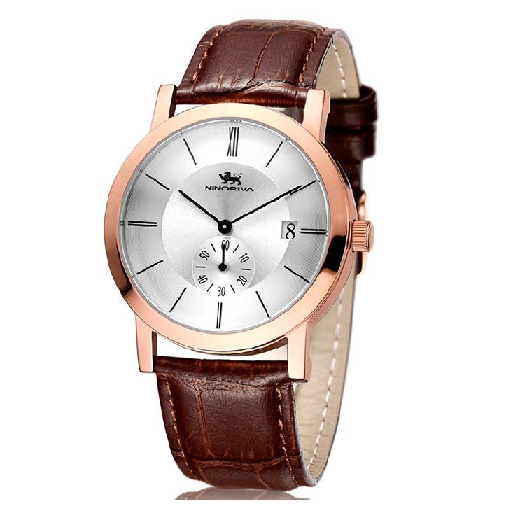 商务时尚皮带表  防水防污休闲男士手表
