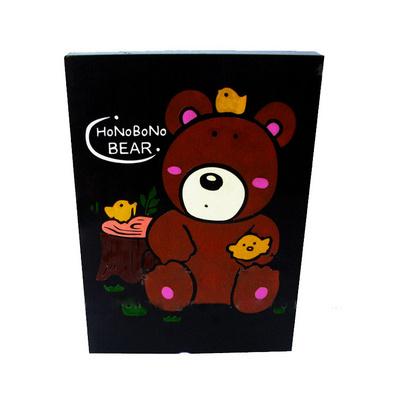 創意炭雕 方形擺件 室內兒童書房擺設 卡通泰迪熊