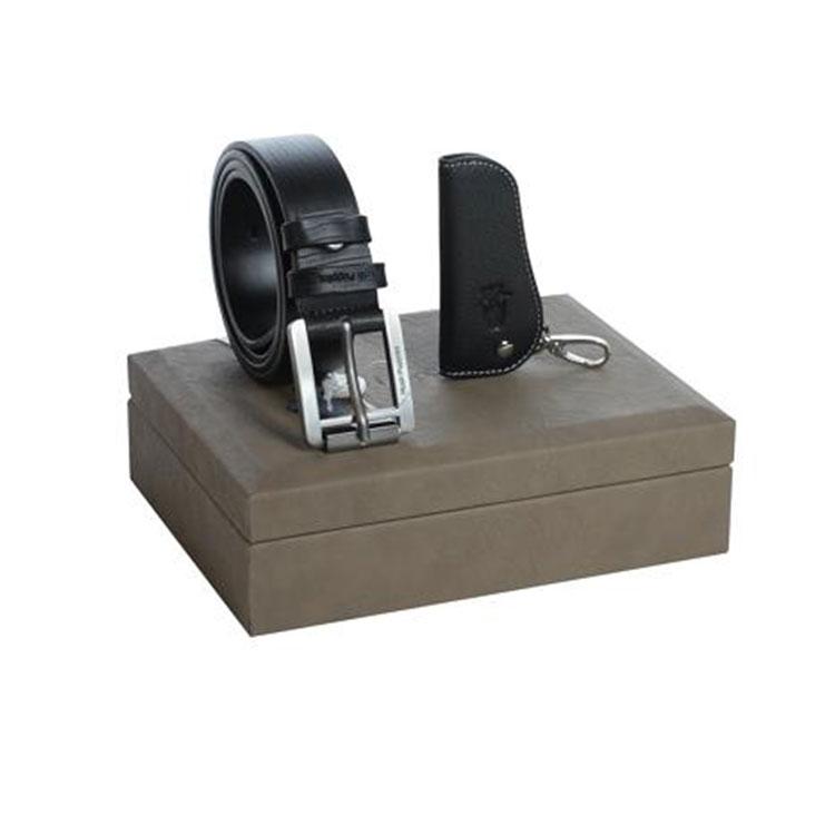 腰帶 車鑰匙包 禮盒皮具套裝兩件套