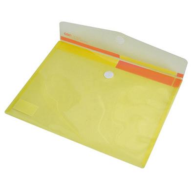 得力按扣文件袋 辦公用品透明A4紐扣袋