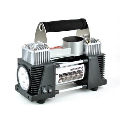雙缸帶燈充氣泵 12VLED充氣泵 便攜式氣泵定制