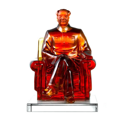 水晶毛泽东坐身像 商务礼品