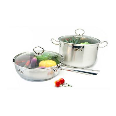 司顿高端厨具 煎炒锅 汤锅两件套定制
