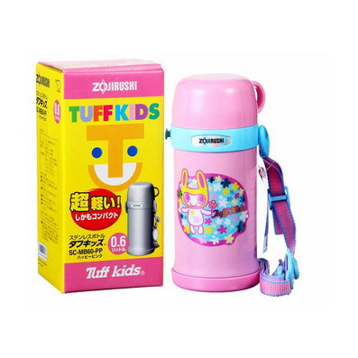 象印不銹鋼雙層兒童保溫壺/兒童保溫杯600ML定制