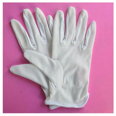 精品CVC背筋防滑手套 纯棉三筋点珠礼仪手套定制