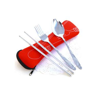 潛水袋餐具三件套 不銹鋼環保勺叉筷