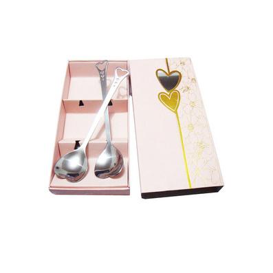 韓國餐具 不銹鋼情侶對勺 創意愛心勺子 結婚禮品