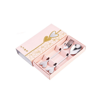 不銹鋼餐具 愛心叉勺套裝 結婚禮品 情侶用品