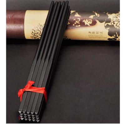 黑/紅酸枝中式筷子 高檔國標紅木筷定制