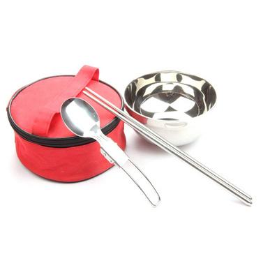 韓式便攜不銹鋼餐具三件套禮包 環保餐具套裝禮品