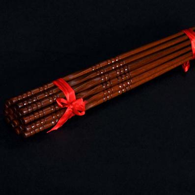 居家黃檀絞絲筷子定制