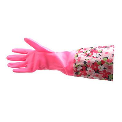 敞口加絨花袖乳膠手套 家用洗衣手套定制