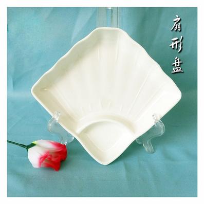 日式寿司盘 仿瓷碟 贝壳盘 扇形盘