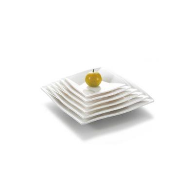 白色菜盘碟子西餐盘 密胺盘仿瓷餐具