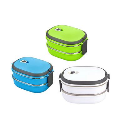 日式不銹鋼雙層飯盒 便當盒學生餐盒定制