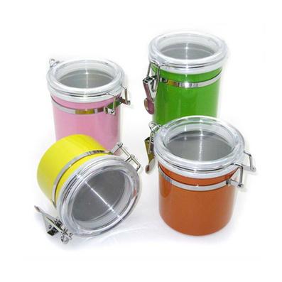 彩色可視密封罐 不銹鋼密封罐 禮品密封罐套裝定制