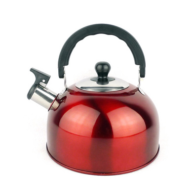 彩色不銹鋼平底鳴音水壺 半球型壺定制