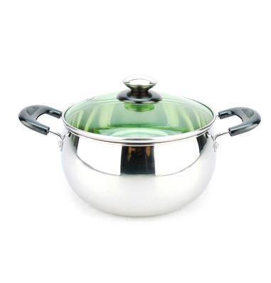 汤锅经典造型 无磁不锈钢明珠锅定制