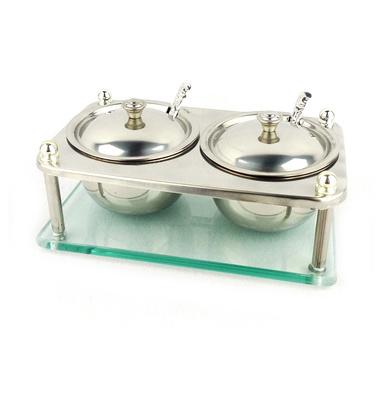 实用型不锈钢二味组合调味架定制
