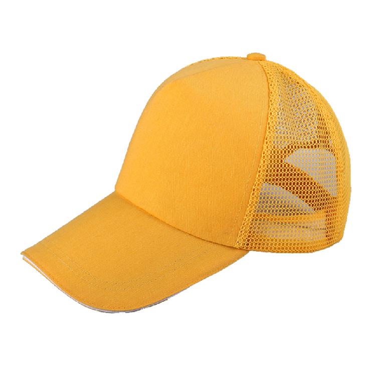 网面帽子 广告帽子 涤棉气眼帽子定制