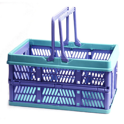 塑料折叠购物篮 野餐篮 收纳篮