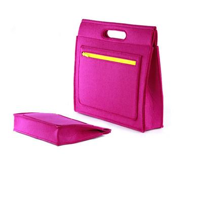 簡約手提包 公文包 OL職業 毛氈A4文件包 手拎包女包