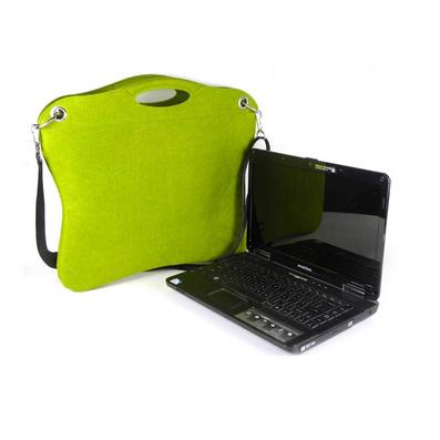 欧美风毛毡电脑包单肩笔记本包 斜跨电脑包